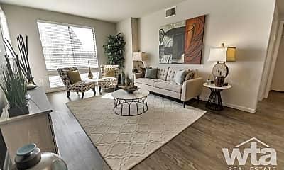 Living Room, 11011 Domain Dr #8100, 1