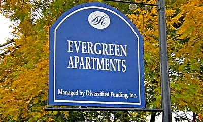 Community Signage, Evergreen Apartments, 1