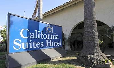 Community Signage, California Suites, 2