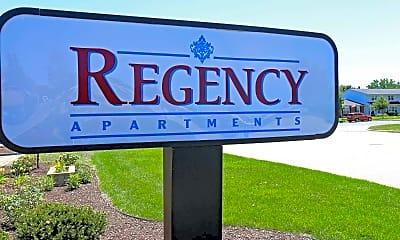 Community Signage, Regency Apartments, 2