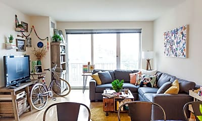 Living Room, Verge Apartments, 0