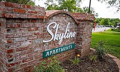 Community Signage, Skyline Apartments, 1