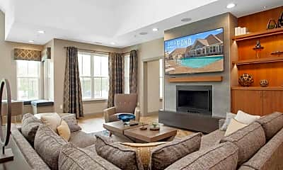Living Room, The Residences at Great Pond, 1