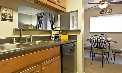 Kitchen, Hickory Woods Apartments, 1