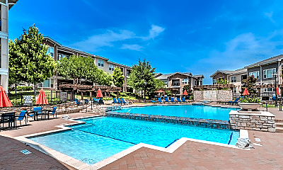 Pool, Lakewood Flats Apartments, 1