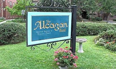 Community Signage, The Alcazar, 2