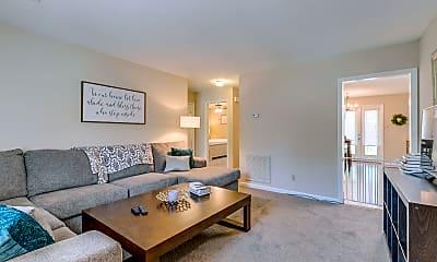 Living Room, Raintree Apartments, 1