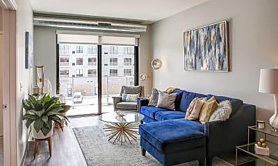 Living Room, Soll Apartments, 1