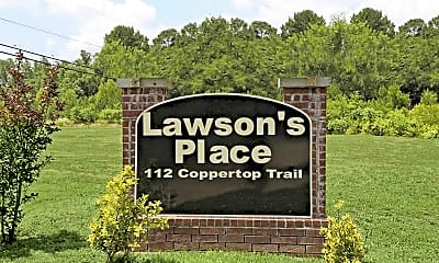 Community Signage, Lawson's Place, 2