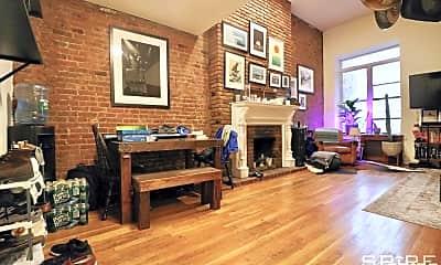 Living Room, 128 W 74th St 1B, 1