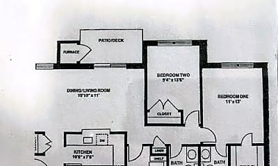 2 bedroom floor plan --.jpg, 800 Thomas Ct Apt 1, 0