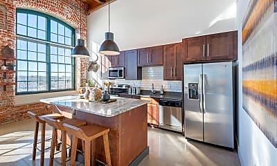 Kitchen, West Village Lofts at Brandon Mill, 1