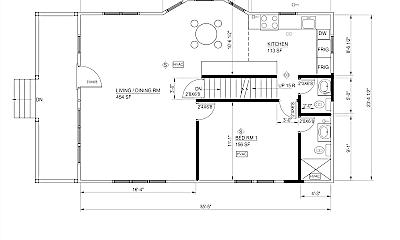 Living Room, 415 Hamilton Pl, 1