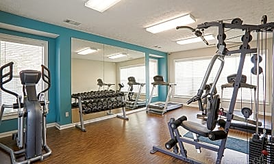 Fitness Weight Room, The Point at Fairview, 2