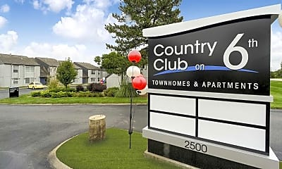 Community Signage, Country Club on 6th, 2