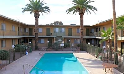 Pool, Malibu Apartments, 0