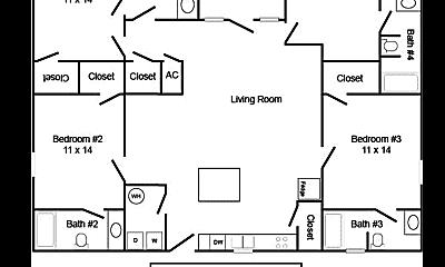 Building, 802 W Longleaf Dr, 1