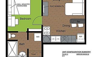 Bathroom, 605 E White St, 2
