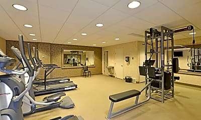 Fitness Weight Room, Ridgewood Park Apartments, 1