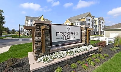 Community Signage, Prospect Hall Apartments and Lofts, 1
