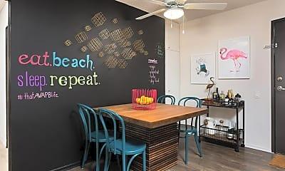 Dining Room, AVA Pacific Beach, 1