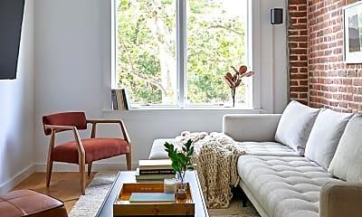 Living Room, 63 W 130th St, 0