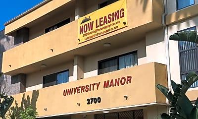University Manor, 1