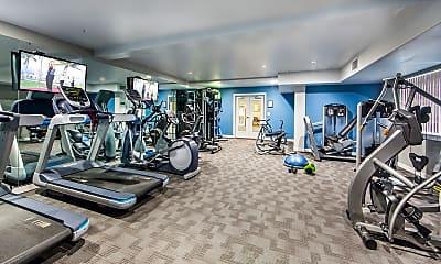 Fitness Weight Room, Hacienda Vallecitos Senior Living, 2
