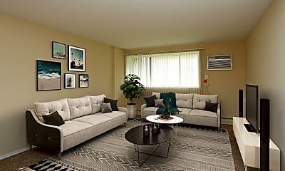 Living Room, Boulder Court Apartments, 0