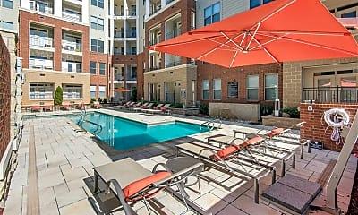 Pool, Elan City Center Apartments, 1