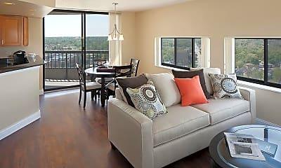 Living Room, Skyrise Luxury Apartments, 0