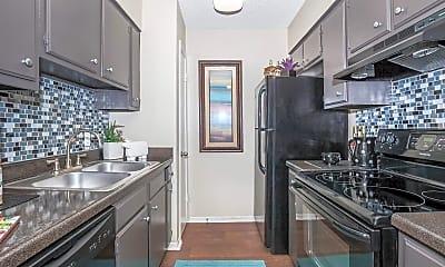 Kitchen, Forest Oaks Apartments, 1