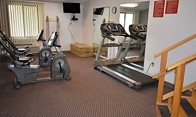 Fitness Weight Room, Hampton Woods, 2