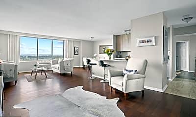 Living Room, 9701 Fields Rd 2301, 1