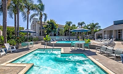 Pool, Merrick Apartments, 2