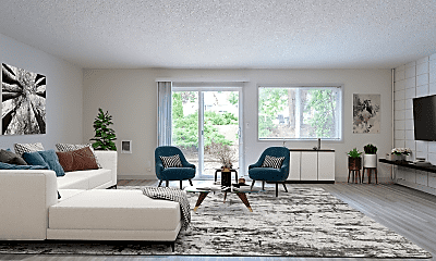 Living Room, Tempo West Apartments, 1