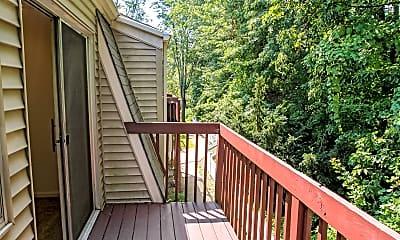 Patio / Deck, Woodgate Apartments, 2