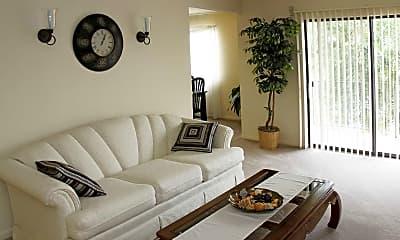 Living Room, Burnam Woods Apartments, 1
