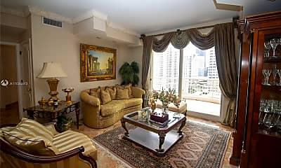 Living Room, 888 Brickell Key Dr 1600, 1