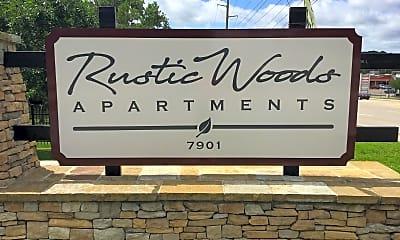 Community Signage, Rustic Woods, 1