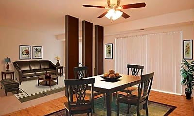 Dining Room, The Forest Apartments, 1