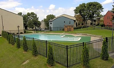 Pool, Will-O-Hill Apartments, 1