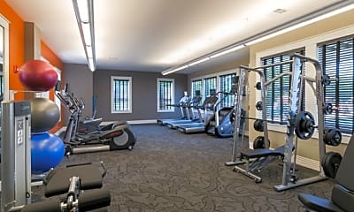 Fitness Weight Room, Aura At Quarterpath, 2