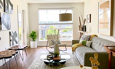 Living Room, Linden Apartments, 0