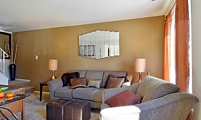 Living Room, Red Bank Run Townhomes, 2
