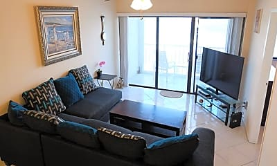 Living Room, 10102 S OCEAN DRIVE Bldg A-703, 1