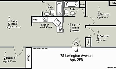 Bedroom, 75 Lexington Ave, 2