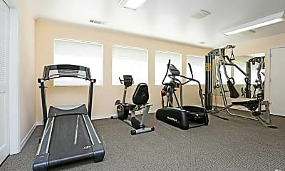 Fitness Weight Room, Summerfield Apartments, 2