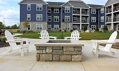 Court Yard Fire Pit, Owl Creek Apartments, 1