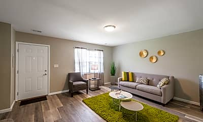 Living Room, The Springs Townhomes, 1